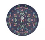 SALE - Festival Folk Dinner Plate - Blue