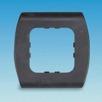 C Line 1Way Face Plate Black